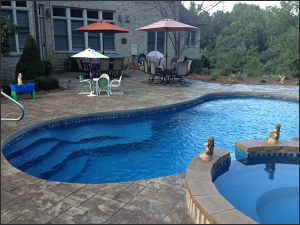 fibeglass swimming pools, concrete swimming pools