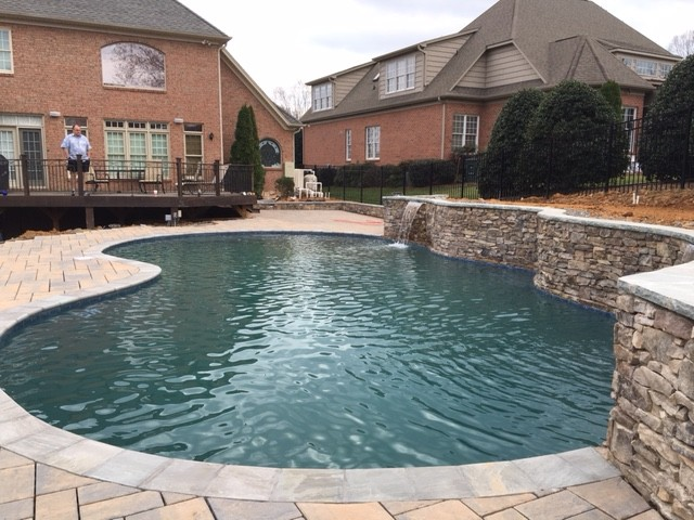 The finished swimming pool from Oasis Pools of Raleigh and Greensboro, NC.